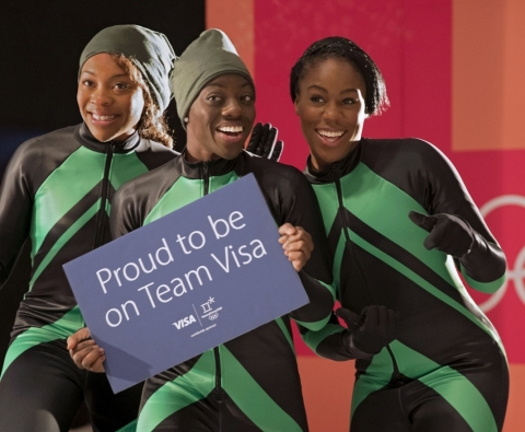 Visa Welcomes the Nigerian Women's Bobsled Team to Team Visa for the Olympic Winter Games PyeongChan ...