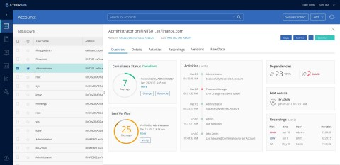 CyberArk Privileged Account Security Solution v10 features a new user interface to better visualize  ...