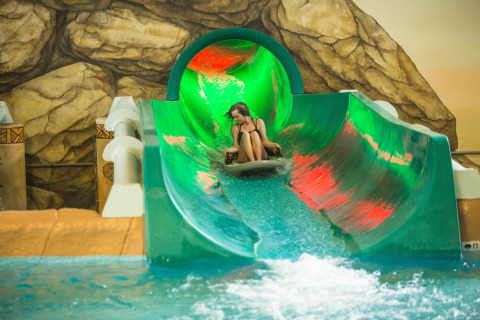 The Storm Chaser is what happens when a video game and a water slide collide. Now open at Kalahari Resorts and Conventions in Sandusky, Ohio. (Photo: Business Wire)