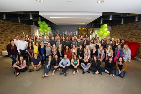 Quotient Cincinnati Celebrates its 100th Employee (Photo: Business Wire)
