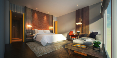 Andaz Singapore houses 342 contemporary guestrooms, including 26 suites, with floor-to-ceiling windo ...