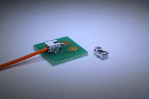 The space-saving 2.6mm (W) x 3.5mm (L) x 2.1mm (H) size makes Yokowo's Lead Socket Connector the smallest offered in its class. (Photo: Business Wire)