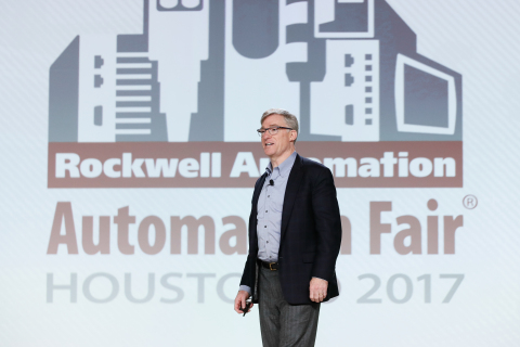 Blake Moret, president and CEO, Rockwell Automation, shares his vision and insights on how companies are realizing value from digital transformation and advanced technologies, in a presentation at the Automation Perspectives global media forum held on Nov. 14. (Photo: Business Wire)