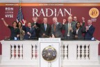 Radian's senior leadership team cheer after CEO Rick Thornberry rings the closing bell at the NYSE. (Photo: Business Wire)