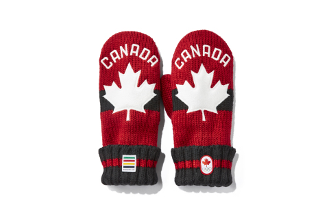 Hudson's Bay 2018 Red Mittens. November 21 is National Red Mitten Day. Red Mittens have become the nation's most iconic symbol of Canadian Olympic pride with $3.90 from the sale of each pair of Red Mittens going to support Canadian athletes. (Photo: Business Wire)