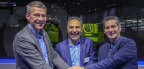 Pictured from left to right: Michel Delanaye, co-founder and CEO, GeonX, Mohammad Ehteshami, Vice President and General Manager, GE Additive, Laurent D'Alvise co-founder and CEO, GeonX. (Photo: Business Wire)
