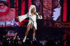 Host Rita Ora opens the 2017 MTV EMA rocking diamonds and a bathrobe. (Photo: Business Wire)