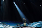 """Eminem performs new single """"Walk on Water"""" for the first time on the 2017 MTV EMA stage. (Photo: Business Wire)"""