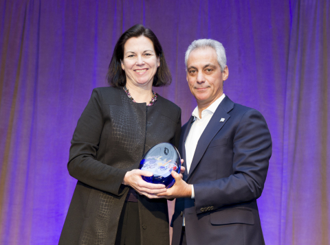 Chicago Mayor Rahm Emanuel presents The Trust for Public Land's 'Land for People' Award to Exelon at ...