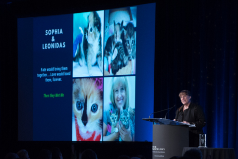 "U.S. Army veteran Karolyn Smith and author of ""Sophia The Bionic Cat"" shares her story of courage after facing traumatic spinal injuries. (Photo: Business Wire)"