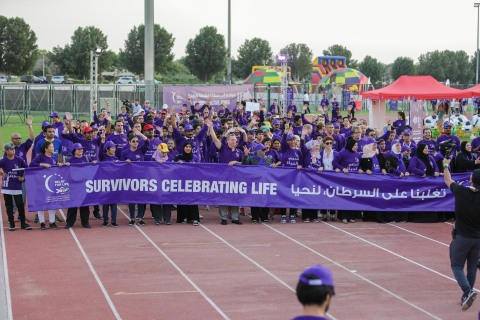 During MENA's first Global Relay For Life walkathon - Source: Friends of Cancer Patients