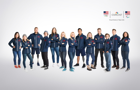 Comcast's Team USA athlete partners for the Olympic and Paralympic Winter Games PyeongChang 2018. Photo by Danielle Levitt.