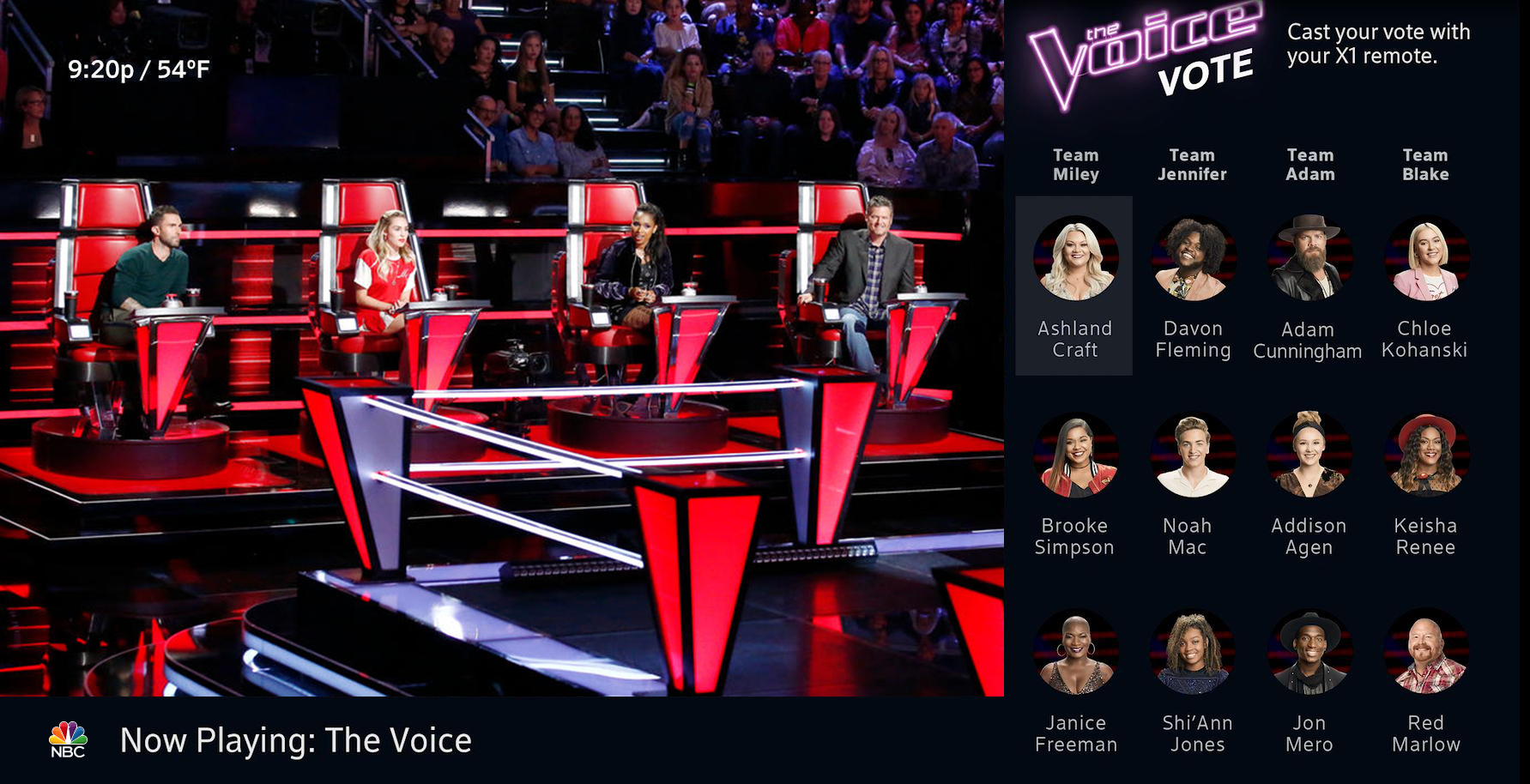 Comcast Customers Can Now Vote During Nbc S The Voice With Their Xfinity X1 Remote Business Wire