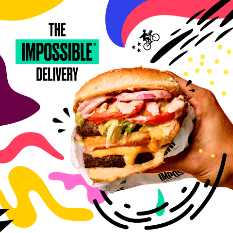 Postmates Launches On-Demand Deliveries of the Impossible Burger--Just in Time to Satisfy Holiday Cravings (Photo cred: Impossible Foods)