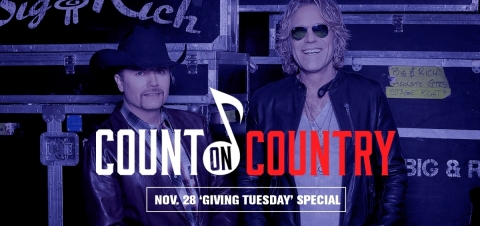 "Entercom's ""Count on Country,"" commercial-free special programming on Giving Tuesday (Photo: Business Wire)"