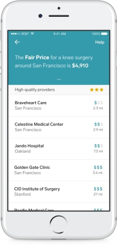 Cost and Quality Guidance helps people make informed choices prior to treatment. With a simple search, members can see the fair price of a treatment, which providers offer the best quality, and how those prices compare to the broader market. (Photo: Business Wire)