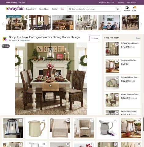 """Wayfair's """"Shop the Look"""" Makes Home Inspiration a Reality (Graphic: Business Wire)"""