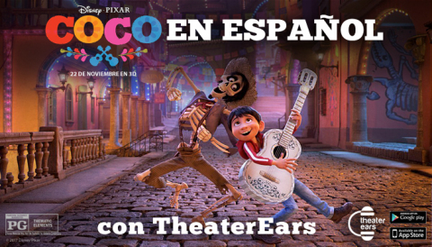 Moviegoers can see Disney/Pixar's Coco in Spanish across the country with the TheaterEars app. The app is available on both the App Store and Google Play. (Photo: Business Wire)