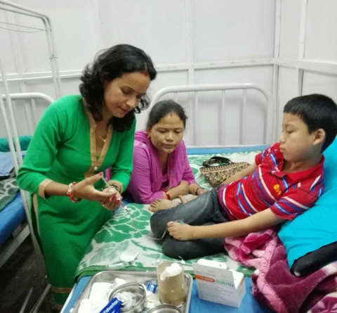 Donation in Nepal of human cell-line derived recombinant factor VIII product Nuwiq (Photo: Business Wire)
