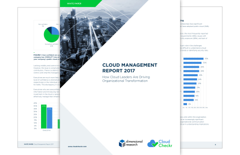 Cloud leaders are creating an inspiring vision for the future of business. Download the Cloud Management Report 2017 to learn how leading organizations take a strategic approach to the cloud across departments.