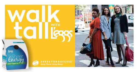 Dress for Success ambassadors, Mary (left) and Deniza (right) join influencer stylist, Janelle Lloyd (middle) in Walking Tall With L'eggs. (Photo: Business Wire)