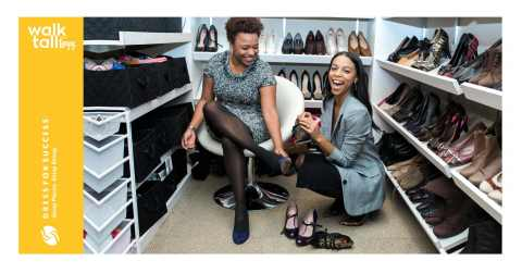 Influencer, Janelle Lloyd (right), of @WaitYouNeedThis had a blast styling Mary (left), Dress for Success ambassador as part of Walking Tall With L'eggs. (Photo: Business Wire)
