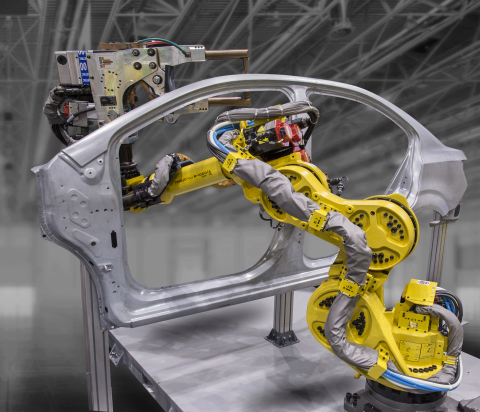 FANUC's new seven-axis R-1000iA/120F-7B robot was introduced at the Fabtech 2017 Show. Today, manufacturers are using automation to overcome inefficiencies, lower costs, increase productivity, and gain market share. (Photo: Business Wire)