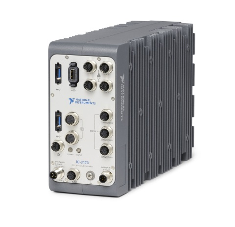 The IC-3173 Industrial Controller, NI's first IP67-rated controller, is ideally suited to act as an IIoT edge node in extremely harsh locations including spray down manufacturing environments, test cells and outdoor locations without the need for a protective enclosure. (Photo: Business Wire)