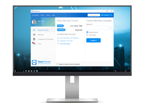 TeamViewer 13's unified interface brings back the menu bar and comes with the new Instant Connect box. (Graphic: Business Wire)