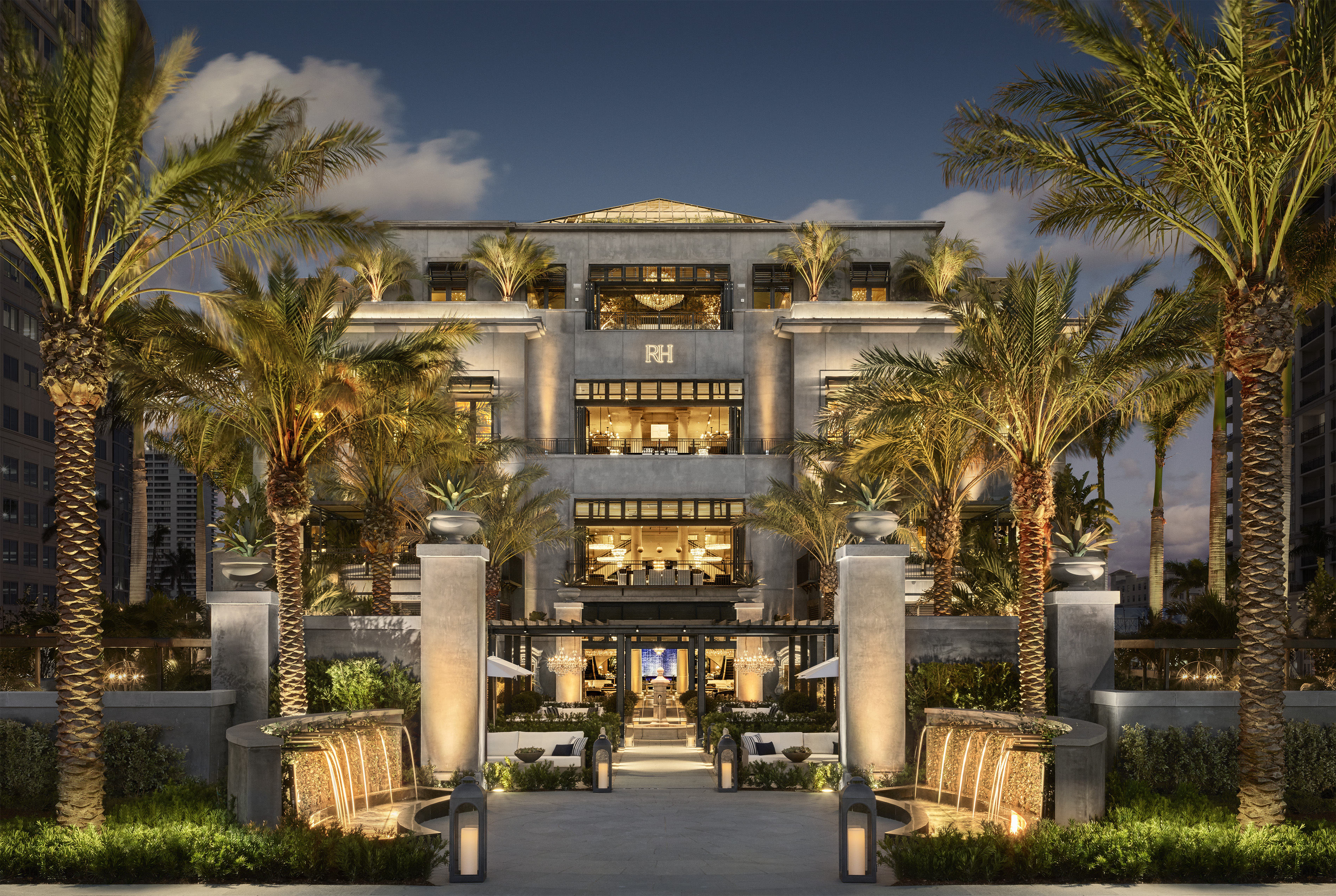Rh unveils west palm the gallery at cityplace