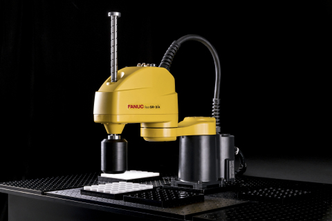 FANUC's new SCARA robots represent the next level of speed and precision for assembly and material handling applications. (Photo: Business Wire)