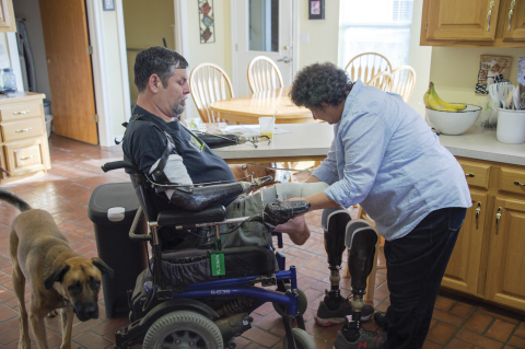 Like many husbands, each day for Dave Riley begins and ends with his wife—Yvonne. But for the Army and Coast Guard veteran, it's only because of his wife that he is able to get out of bed every morning and rest comfortably at night. (Photo: Business Wire)