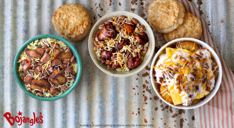 Our three hearty bowls are packed with generous helpings of your favorite Bojangles' menu items to k ...