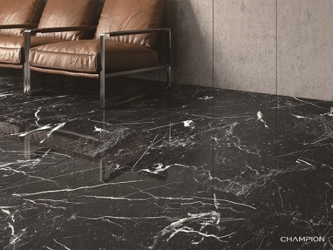 Black Marquina mix white veins with abundant elegant structure (Photo: Business Wire)