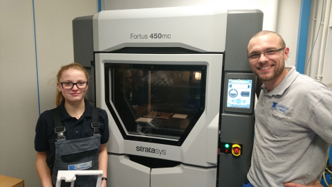 With their in-house Stratasys Fortus 450mc Production 3D Printer, Christian Maier and his team can n ...