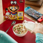 The limited-edition Super Mario Cereal box will begin hitting store shelves across the U.S. as early as Dec. 11. (Photo: Business Wire)