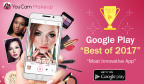 "Perfect Corp.'s YouCam Makeup is named ""Most Innovative App"" among the ""Best of 2017"" (Graphic: Business Wire)"