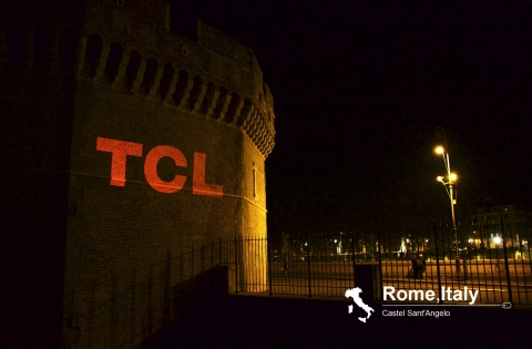 TCL Global Creative Projection Advertisements on Castel Sant'Angelo (Photo: Business Wire)