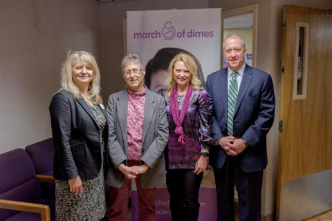 Susan Gordos, development specialist, March of Dimes, Dr. Linda Post, chief medical officer, Unite ...
