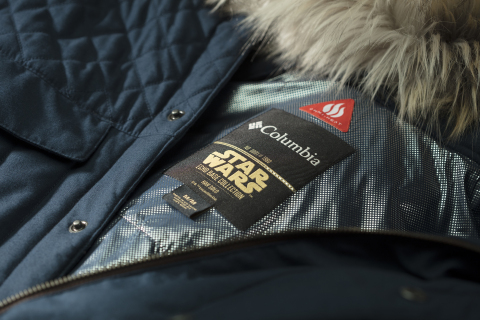 Close up of the Han Solo Echo Base parka the interior neck label, which is individually numbered. (Photo: Business Wire)