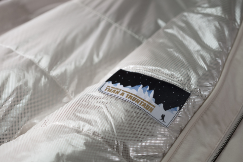 "Interior of the Luke Skywalker Echo Base Jacket showing Columbia's Omni-Heat Reflective Technology and a patch stating ""Warmer than a Tauntaun."" (Photo: Business Wire)"