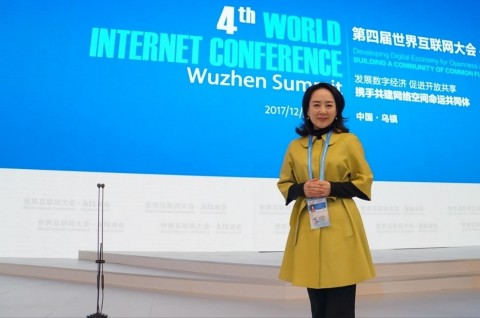 Ms. Diane Wang at the World Internet Conference Wuzhen Summit