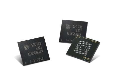 Samsung 512GB eUFS embedded universal flash storage (Photo: Business Wire)