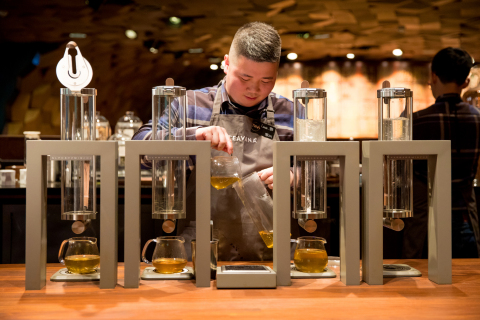 The new Shanghai Roastery features China's first Starbucks® Teavana Bar, an entirely modern tea experience specifically designed for Chinese customers. (Photo: Business Wire)