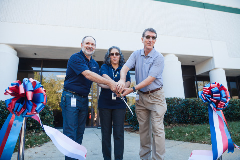 Envistacom leadership team cuts ribbon at the Envistacom Innovation Center grand opening event (Photo: Business Wire)