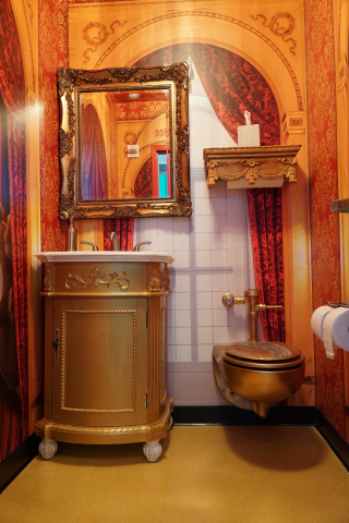 "Charmin Restrooms ""Throne Stall"" (Photo: Business Wire)"