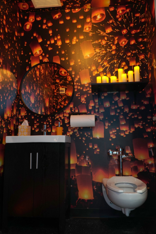 "Charmin Restrooms ""Lantern Stall"" (Photo: Business Wire)"