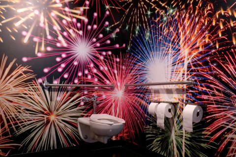 "Charmin Restrooms ""Fireworks Stall"" (Photo: Business Wire)"