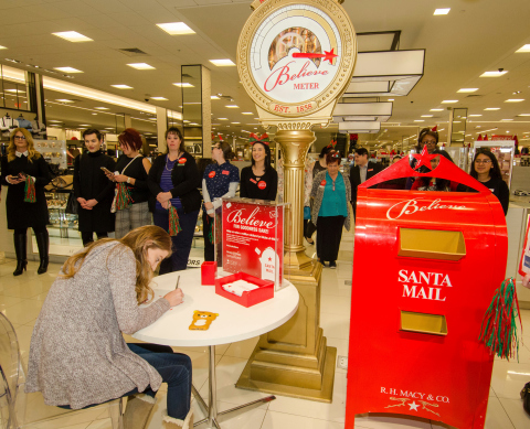 Macy's and Make-A-Wish® celebrate Brynn, 17, at a Wishes Across America event as part of Macy's 10th ...
