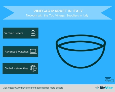 Vinegar Market in Italy - BizVibe Announces a New B2B Networking Platform for Vinegar Suppliers in Italy (Graphic: Business Wire)
